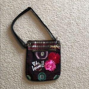 Floral crossbody bag-leather straps!!!